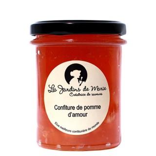 Confiture de Pomme d'Amour - Les Jardins de Marie - Meilleure confiturière de Monde - pot 230g