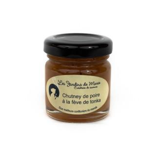 Chutney de poire à la fève de Tonka - Les Jardins de Marie - Meilleure confiturière de Monde - pot 41g