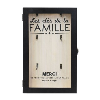 Boîte à clés moderne Family Time - Noir