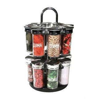Carrousel à épices Cooking - 16 Pots - Argent