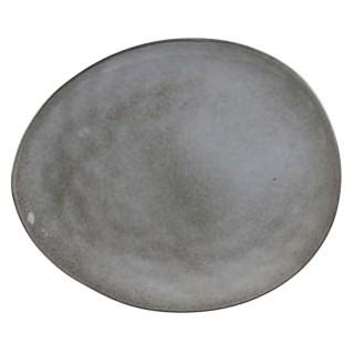 Assiette plate galet natural Au gré du temps - Gris