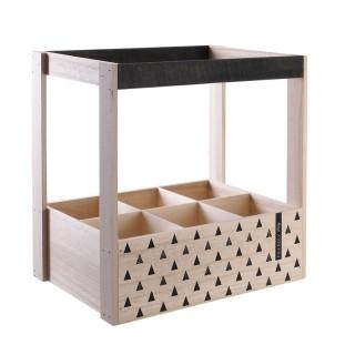 Casier à bouteilles en bois triangles Table Chic GM - Beige