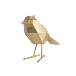 Statuette déco oiseau Origami - Doré