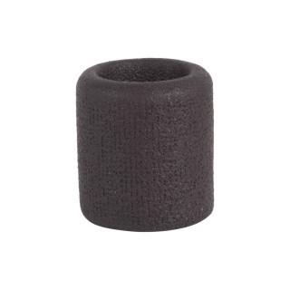 Bougeoir design brut Burly - Diam. 7 cm - Noir