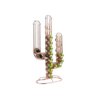 Porte-capsules design cactus Linea - Nespresso - Rose cuivré