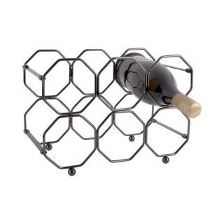 Range bouteille pliable design métal Honey - L. 31 x H. 22 cm - Gris