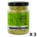 Lot 3x Sauce tartare - Fabriquée en France - MR - pot 90g