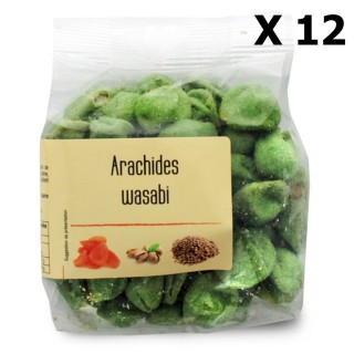 Lot 12x Arachides wasabi - paquet 130g