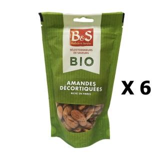 Lot 6x Amandes décortiquées BIO - B&S - paquet 125g