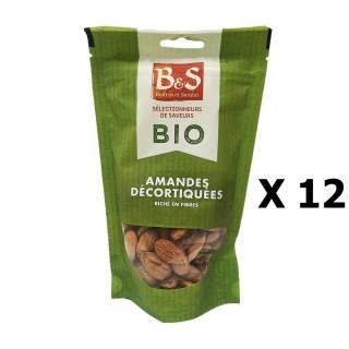 Lot 12x Amandes décortiquées BIO - B&S - paquet 125g