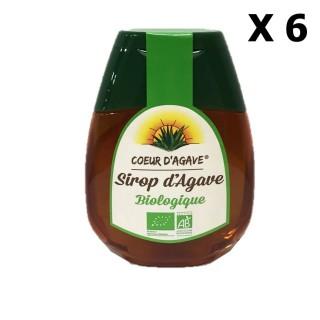 Lot 6x Sirop d'agave Bio - Cœur d'Agave - squeezer 250g