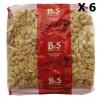 Lot 6x Arachides blanches grillées salées - B&S - paquet 500g