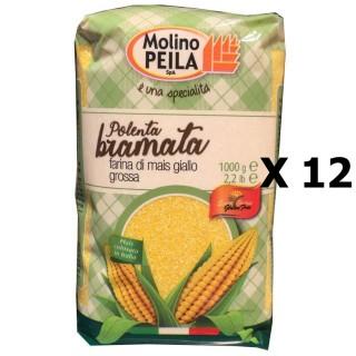 Lot 12x Polinte moyenne jaune - Italie - Molino Peila - paquet 1kg