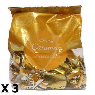 Lot 3x Papilotte caramel au beurre salé - Rhône Alpes - sachet 112g