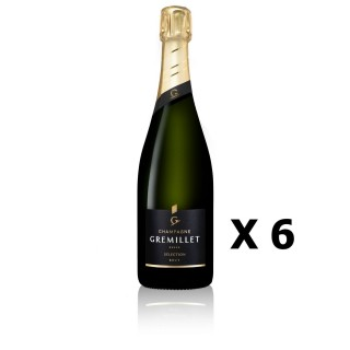 Lot 6x Sélection Brut - Champagne Gremillet - Champagne 75cl - CHAMPAGNE - Haute Valeur Environnementale