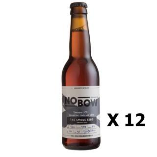 Lot 12x Bière artisanale Nobow The Smoke King by Mandrin - 33cl 4,8% alc./Vol- Brasserie du Dauphiné