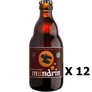 Lot 12x Bière artisanale Mandrin d'Hiver - 33cl 8% alc./Vol- Brasserie du Dauphiné