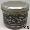 Lot 3x Pâté du Dimanche au foie gras - Cuisiné dans le Sud Ouest - France - Mes P'tites Recettes - pot 200g