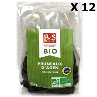 Lot 12x Pruneaux d'Agen IGP BIO - B&S - paquet 250g