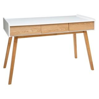 Console en bois scandinave en bois Elva - L. 122 x H. 78 cm - Blanc