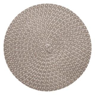 Set de table design tressé Irise - Diam. 38 cm - Gris