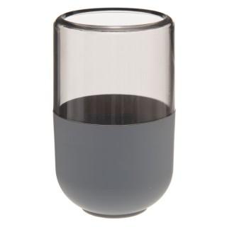 Gobelet de salle de bain design Twin - Gris