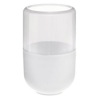 Gobelet de salle de bain design Twin - Blanc