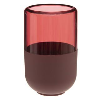 Gobelet de salle de bain design Twin - Rouge terracotta