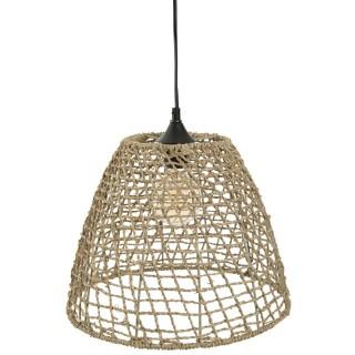 Suspension luminaire cône en rotin Jada - Diam. 35 cm
