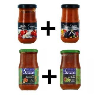 Assortiment sauces 4 pots - les Saveurs de Savino