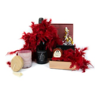 Coffret Cadeau Valentin & Valentine - Idée cadeau - Boîte cadeau écologique - 5 produits
