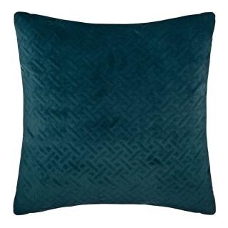 Coussin design en velours Dolce - L. 40 x l. 40 cm - Bleu canard