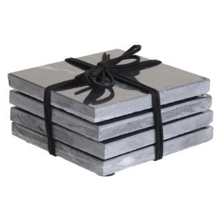 4 Dessous de verre en marbre Marble - Noir