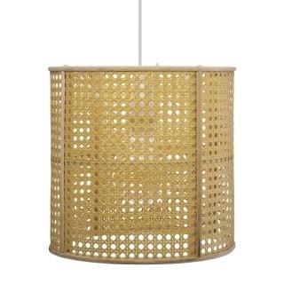 Suspension luminaire rotin cannage Poésie - Diam. 28 cm - Beige