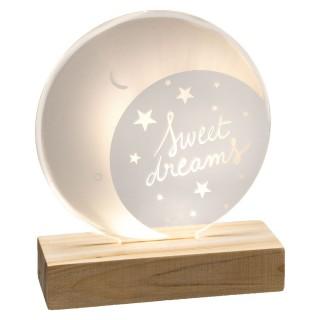 Lampe veilleuse pour enfant lune Douceur - Blanc