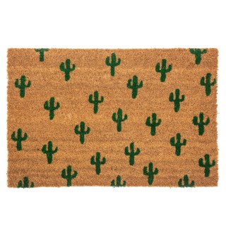 Paillasson design cactus Tropic - L. 40 x l. 60 cm - Marron