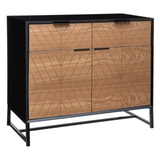 Buffet design contempo bois Oria - L. 88 x H. 86 cm - Noir