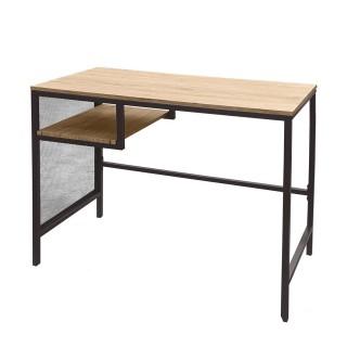 Bureau industriel en bois et métal Dock - L. 90 x H. 75 cm - Noir