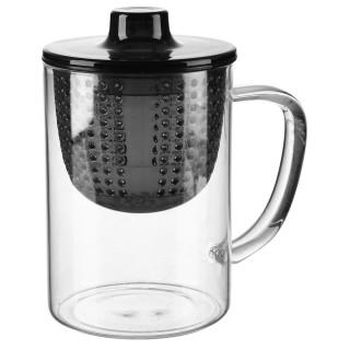 Théière à filtre en verre Amition - 400 ml - Noir