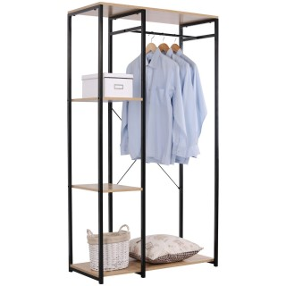 Armoire penderie ouverte design Hanger - L. 90 x H. 167 cm - Noir
