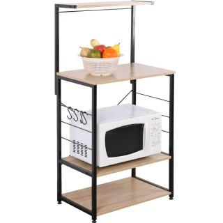 Etagère meuble de cuisine design Hanger - L. 60 x H. 123 cm - Noir