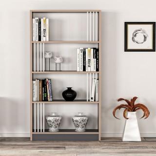 Etagère bibliothèque design Nicol - L. 64 x H. 150 cm - Noir