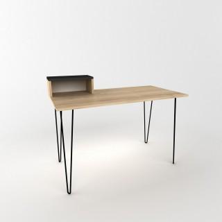 Bureau design bois Alves - L. 120 x H. 75 cm - Noir