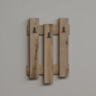 Porte-manteaux palettes bois Nix - L. 45 x H. 66 cm - Marron noix