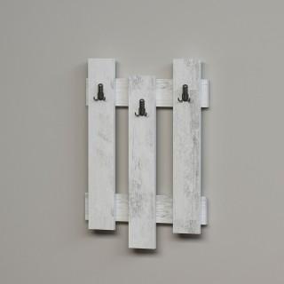 Porte-manteaux palettes bois Nix - L. 45 x H. 66 cm - Blanc
