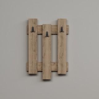 Porte-manteaux palettes bois Nix - L. 45 x H. 66 cm - Marron bois