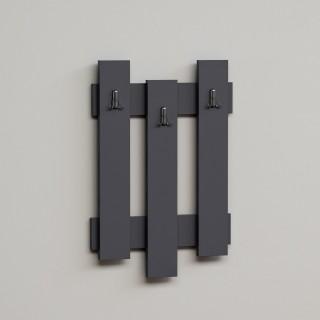 Porte-manteaux palettes bois Nix - L. 45 x H. 66 cm - Gris anthracite