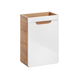 Meuble sous lavabo mural scandinave bois Aruba PM - L. 40 x l. 60 cm - Blanc