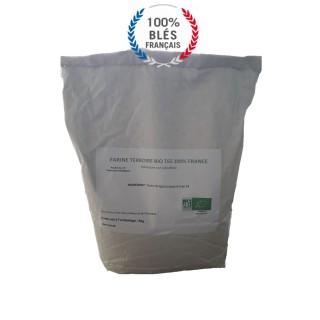 Farine T65 Bio - blé 100% France - Terroire - sac 5Kg