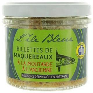 Rillettes maquereaux MSC à la moutarde - L'Ile Bleue - pot 100g